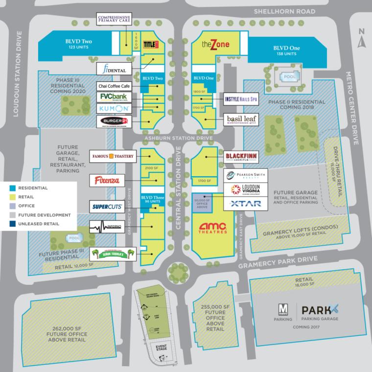 loudoun station map
